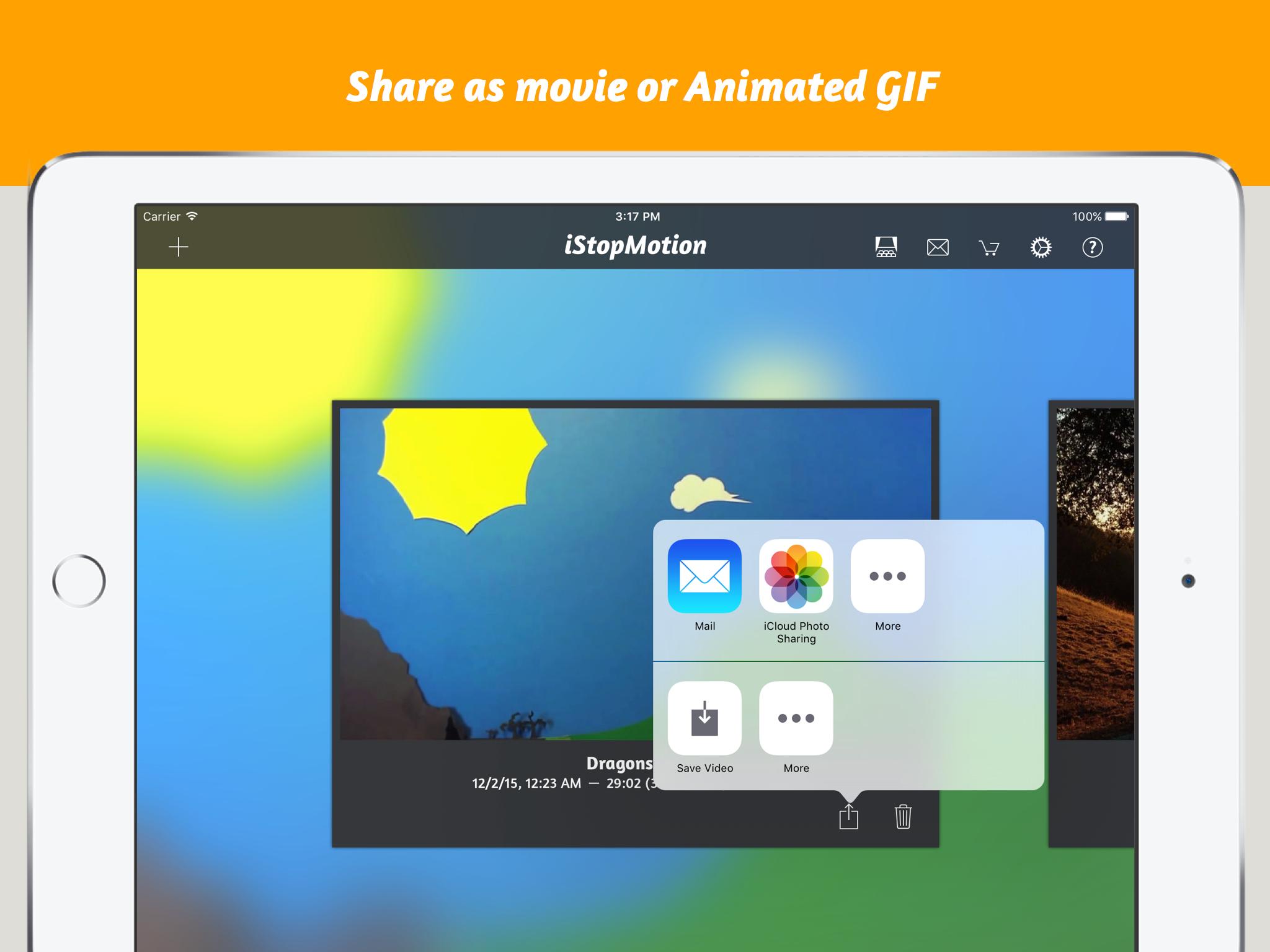 iStopMotioniPad Share