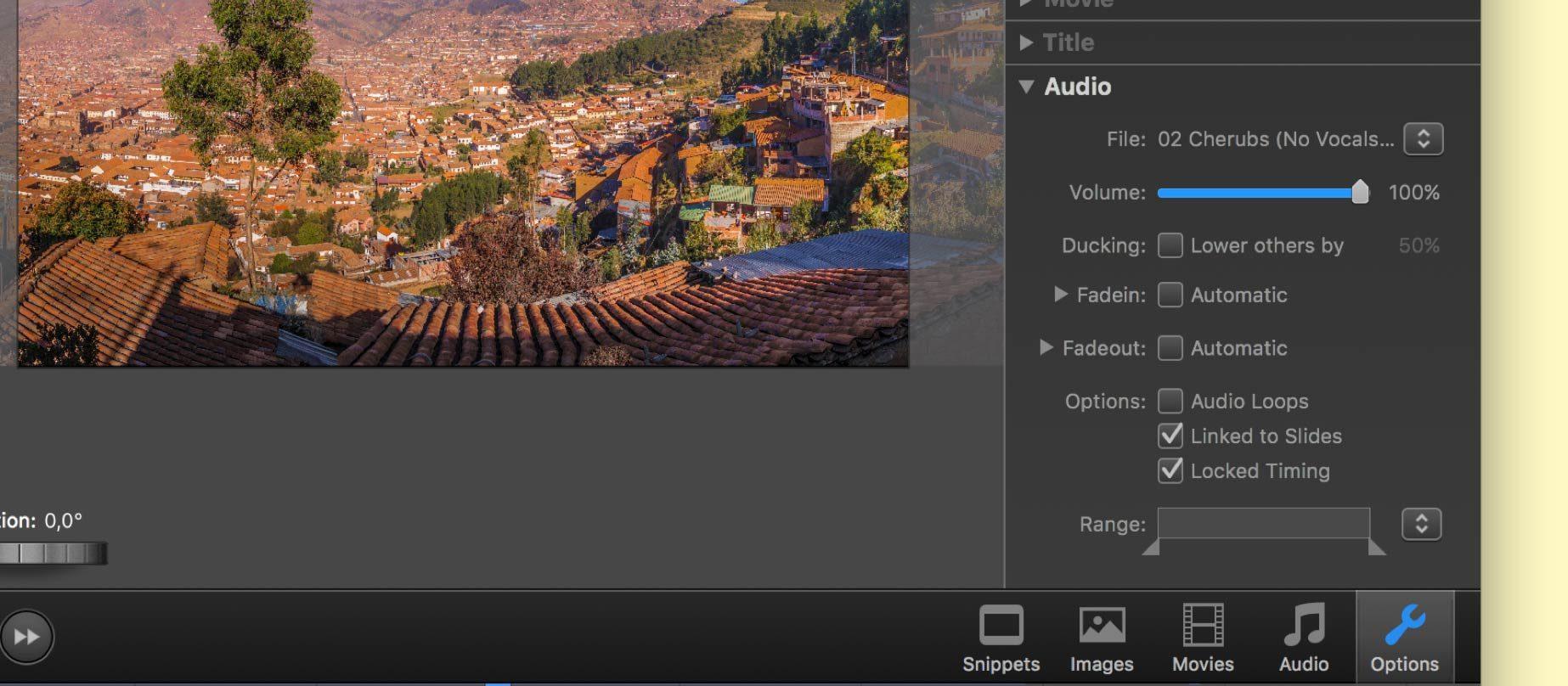 Screenshot FotoMagico 5 Audio Volume