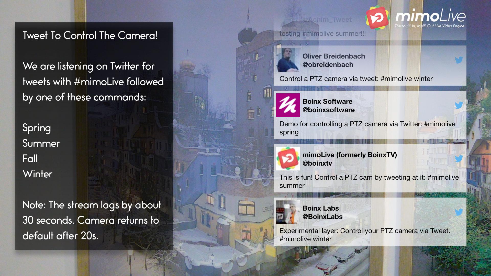 mimoLive Twitter Screenshot