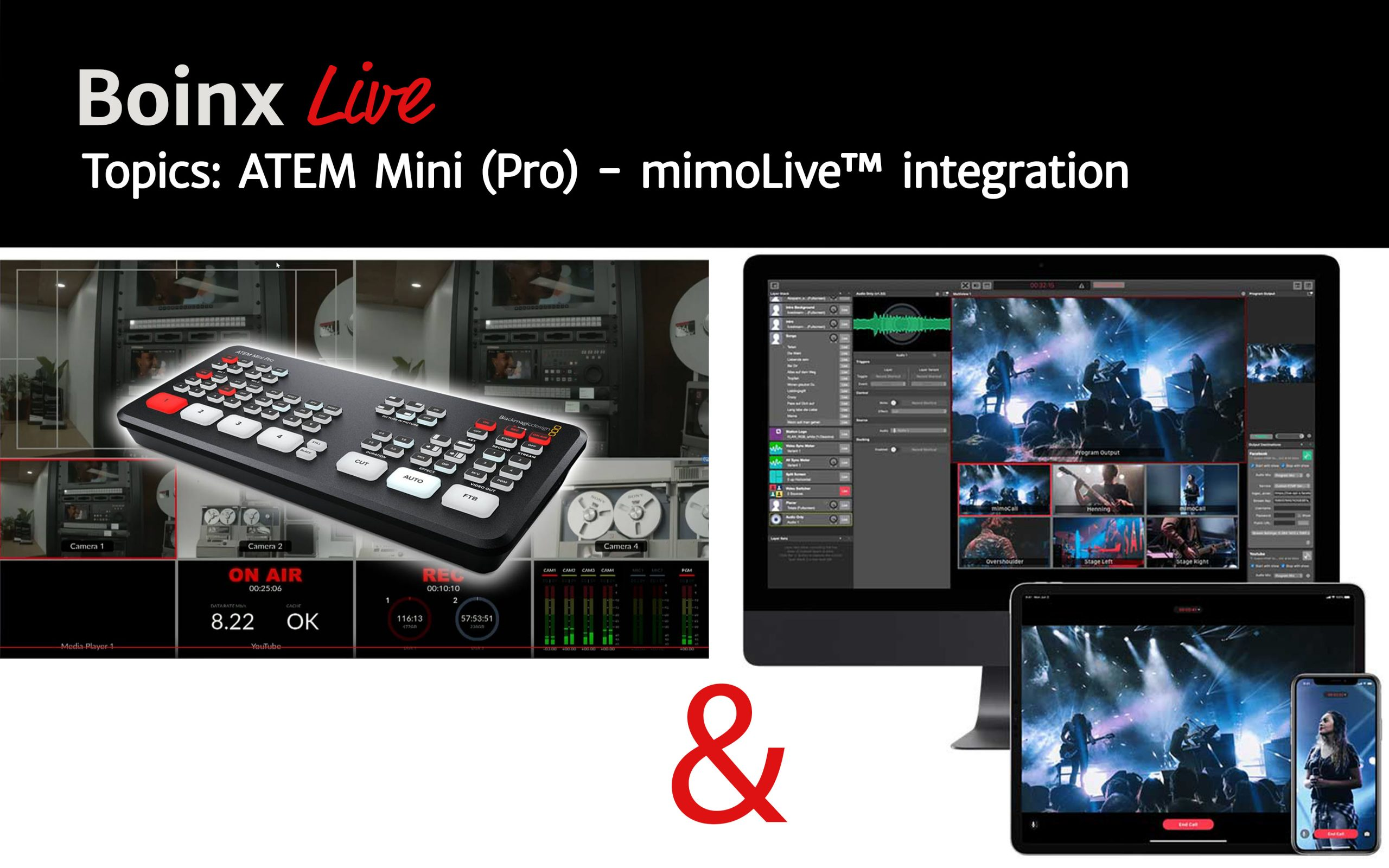 Boinx Live Advantages Of Using The New Blackmagic Design Atem Mini Pro With Mimolive Boinx Software