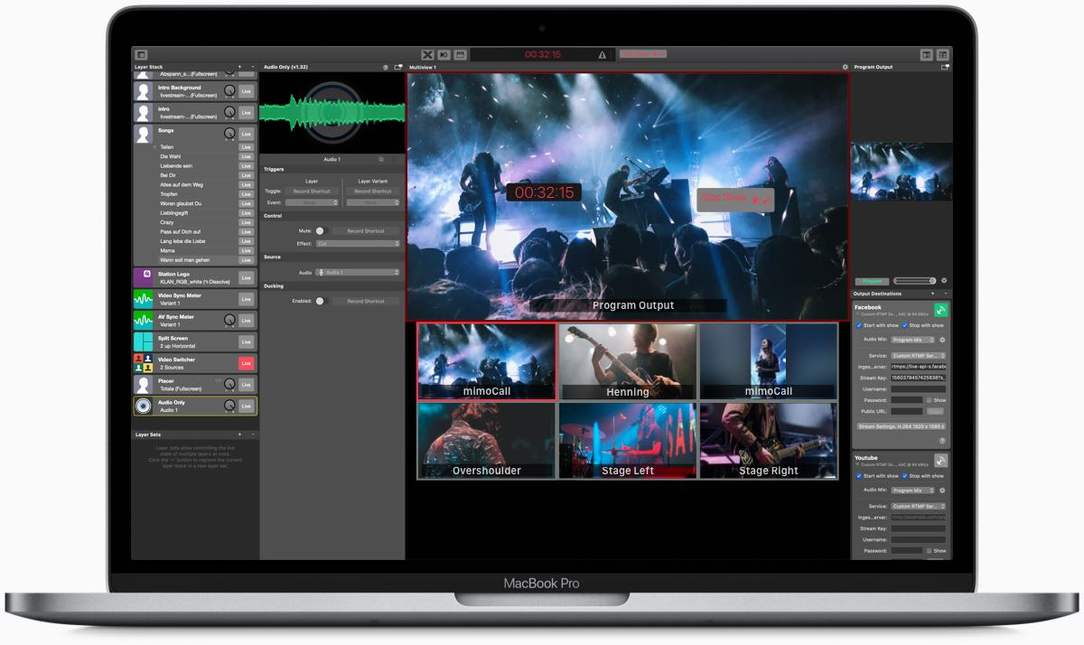 Professional live videos for Mac