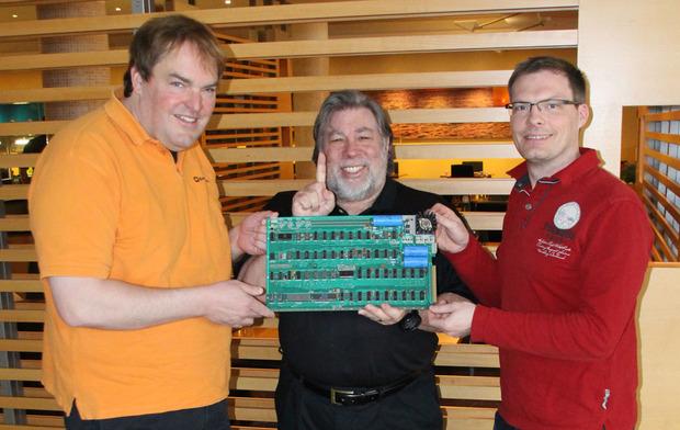 Boinx founders and Steve Wozniak